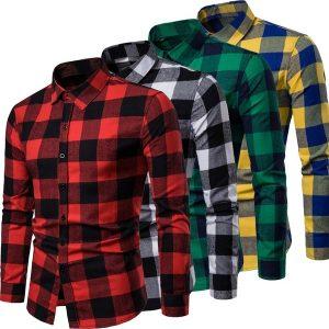CAMISA   Outono Novos Homens Mais Veludo Grossa Xadrez Camisa de Mangas Compridas R$60,00  FRETE GRATIS  SITE Aqui Www.DUGEZZU.Com.Br Boas Compras