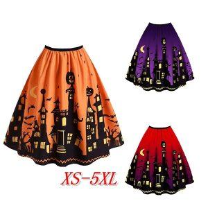 SAIA Chegada nova Senhoras Halloween Castelo Bat Impresso Gótico Vestido Vintage R$100,00  FRETE GRATIS  SITE Aqui Www.DUGEZZU.Com.Br Boas Compras