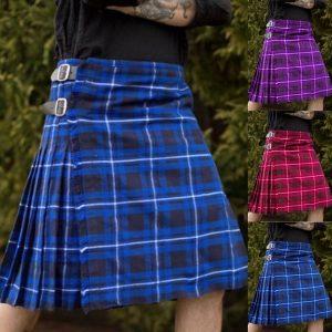 KILT Panos tradicionais escoceses plissados Kilts para homens xadrez Tartan Kilts R$160,00  FRETE GRATIS  CADASTRE-SE no SITE Www.DUGEZZU.Com.Br Boas Compras