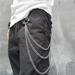 CORRENTE Personalidade de Hip Hop Moda Feminina Cadeia de Metal Punk Cadeias Multicamadas Cintura Cadeia Jeans FRETE GRATIS