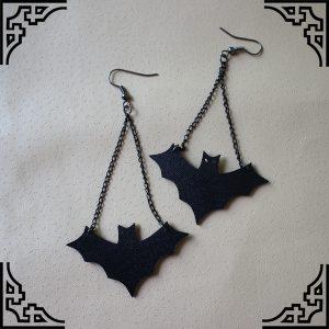 BRINCO Um par de nova moda morcegos pretos brincos halloween decorações de cosplay gótico brincos jóias de cosplay R$50,00 FRETE GRATIS  CADASTRE-SE no SITE www.DUGEZZU.com.br e Boas Compras
