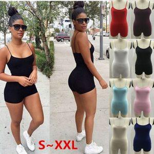 MACACÃO Womens Sexy Macacões Moda Bodysuit Macacão Senhoras Suspensórios Playsuits 8 Cores FRETE GRATIS