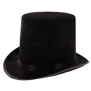 CARTOLA Traje Adulto Alto Topo Steampunk Black Hat Mágico Casamento Victorian Mat Hatter FRETE GRATIS