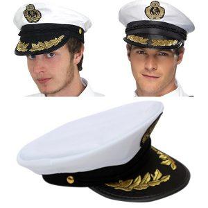 CHAPEU Capitão chapéu branco cetim iate barco marinha unisex marinheiro traje cap vestido extravagante FRETE GRATIS