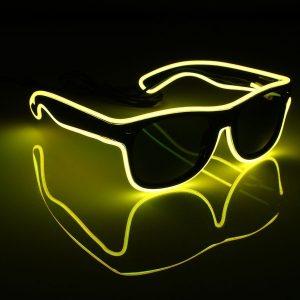 OCULOS LED EL Wire Glasses Light Up Glow Sunglasses Eyewear Shades for Nightclub Party FRETE GRATIS