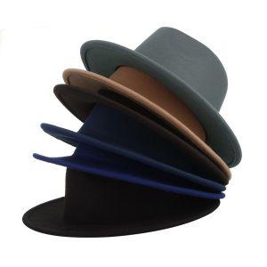 CHAPEU Na moda dos homens Casual Chapéu Fedora Panamá Cap Estilo Coreano Masculino Outono Inverno Ao Ar Livre Macio Quente Chapéu De Lã Cartola Acessórios de Moda FRETE GRATIS