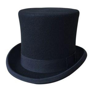 CARTOLA Homens negros de lã chapéu fedora cartola plana chapéus tradicional partido cap steampunk chapéu mágico FRETE GRATIS