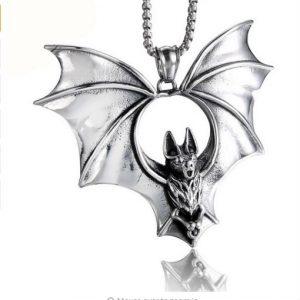 COLAR Overlord Bats Colar de pingente Punk Aço inoxidável Colar e pingente Homens Jóias  R$80,00 FRETE GRATIS  CADASTRE-SE no SITE www.DUGEZZU.com.br e Boas Compras