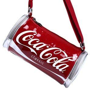 Bolsa Feminina Coca-Colca Shoulder Aslant Bag Fashion Street (Cor: Vermelho e Branco) FRETE GRATIS