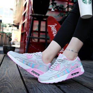 TENIS Primavera e Verão Moda Feminina Ao Ar Livre Confortável Almofada de Ar Tênis de Corrida Sapatos Casuais de Esportes FRETE GRATS
