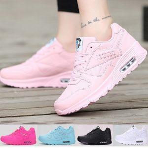 TENIS Corredores Sapatos Casuais Mulheres Almofada de Malha Respirável Tênis Baixos Esporte Ao Ar Livre Formadores de Moda Sapatos FRETE GRATIS