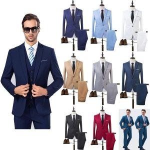 TERNO Tamanho dos eua a alta qualidade primavera 2018 terno de negócios e lazer homem conjuntos de casamento 8 cores tops de duas peças + calças FRETE GRATIS