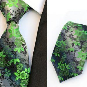 GRAVATA Verde preto flor moda gravata 8 cm gravata para homens terno festa de casamento gravatas FRETE GRATIS
