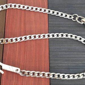 Corrente de carteira de cadeia de aço inoxidável para homens Corrente de jeans em corrente de prata 925 esterlina FRETE GRATIS