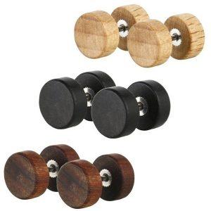 BRINCO Moda Natural De Madeira Stainlee Aço Ear Studs Brincos Para Mulheres Homens Brincos De Madeira Stud FRETE GRATIS