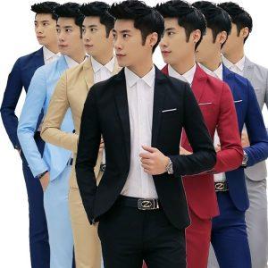 TERNO Primavera novos homens de negócios casuais Slim jaqueta de 8 cores. FRETE GRATIS
