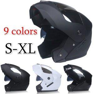 Capacete de alta qualidade de motocicleta de lente dupla de rosto completo com capacete interno de viseira solar FRETE GRATIS