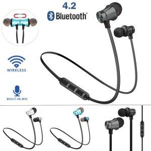 FONE DE OUVIDO Bluetooth 4.2 fone de ouvido magnético fones de ouvido sem fio esporte fones de ouvido estéreo R$55,00 FRETE GRATIS CADASTRE-SE no SITE www.DUGEZZU.com.br e Boas Compras