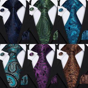 GRAVATA Luxo Floral Gravata De Seda Dos Homens Gravata de Bolso Quadrado Abotoaduras de Tecido Festa de Negócios Namoro Conjunto de Presente FRETE GRATIS