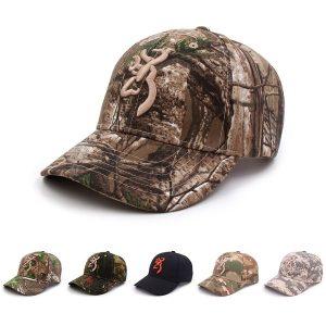 BONE Novos homens da moda verão chapéu browning camo boné de beisebol bonés de pesca homens ao ar livre caça camuflagem chapéu da selva airsoft tático caminhadas casquette chapéus FRETE GRATIS