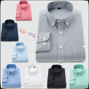 CAMISA Mens camisas de vestido formais homem de negócios estilo camisas de mangas compridas abotoar camisas para homens FRETE GRATIS
