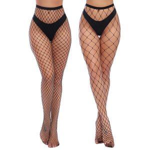 MEIA Mulheres Meias de cintura alta Meias arrastão Coxa alta meia-calça 2/3 PCS FRETE GRATIS