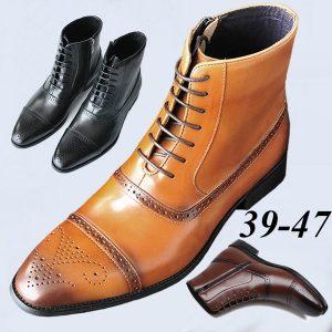 BOTA Estilo britânico Brogues Sapatos Masculinos Lazer Sapatos Casuais Mens High-Top Chelsea Ankle Boots Botas de Cowboy Botas de Equitação Botas De Hombre Botas Masculinas Plus Size 39-47 FRETE GRATIS