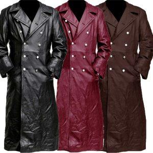 CAPA SOBRETUDO Novos homens steampunk gótico trench coat jaqueta de couro estilo punk motociclista jacke outono inverno moto longo jaqueta m-5xl FRETE GRATIS