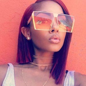 OCULOS  girassol moda retro das mulheres de grandes dimensões cores gradiente óculos de sol do vintage grande praça óculos de sol óculos óculos sombra sombra oculos de sol feminino óculos de sol uv400 FRETE GRATIS