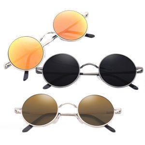 OCULOS Armação de metal unisex estilo vintage retro rodada óculos óculos retro óculos FRETE GRATIS