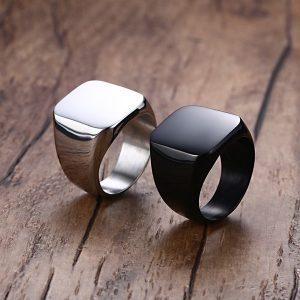 ANEL Anéis de aço titânio homens moda anel personalidade turismo memorial FRETE GRATIS