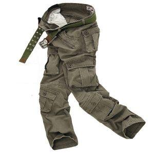 CALÇA Homens Moda Militar Carga Longa Calças Gerais Calças de Trabalho Plus Size Calças de Suor 4 Cores FRETE GRATIS