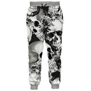 CALÇA Nova Moda Quente 3D Crânio Basculadores Calças Das Mulheres Dos Homens Primavera Calças Soltas Pantalon Homme Calças Hip Hop Casuais G555 FRETE GRATI
