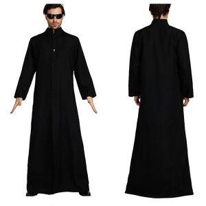 SOBRETUDO The Matrix Cosplay Personalizado Preto Traje Cosplay Neo Trench Coat FRETE GRATIS