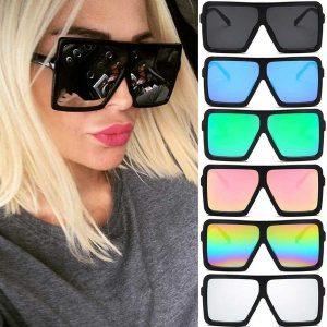 OCULOS Óculos de sol mulheres marca designer big frame quadrado óculos de sol óculos de sol de grandes dimensões vintage óculos de plástico do vintage FRETE GRTIS