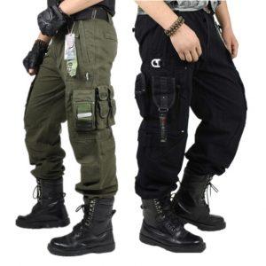 CALÇA Caminhadas ao ar livre Casual Multi-bolso Macacão Plus Size Camuflagem Exército Calças Militares Calças Para Homens Moda FRETE GRATIS
