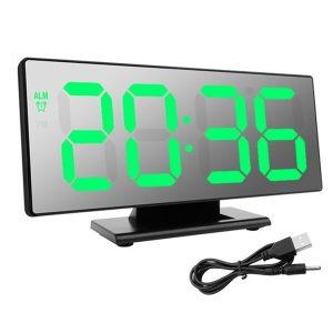 DESPERTADOR Despertador digital Tabela de exibição de temperatura Multifunções Snooze Night Grande número de exibição LED Desktop Mirrior Despertadores FRETE GRATIS