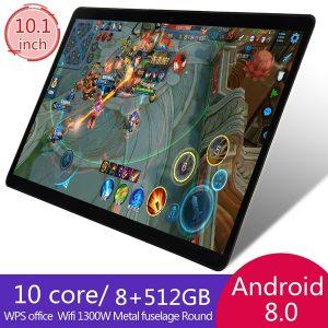 TABLET Tablets Android 8.0 com rede 4G Tablets de 10,1 polegadas com 8GB + 512GB de memória grande Tela 1920 * 1200 IPS Tablet Android 10 Octa Core MT6797 4G Telefone com cartão SIM duplo 4G Telefone com chamada 4G Tablets de chamada Wi-Fi Tablets Android baratos FRETE GRATIS