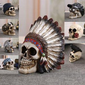 CRANIO Retro crânio humano horror crânio cabeça ornamentos simulação modelo crânio humano pêndulo de escritório FRETE GRATIS