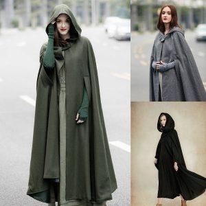 CAPA SOBRETUO Moda feminina Medieval estilo renascentista do Dia das Bruxas capas e capas trajes de cosplay do vintage FRETE GRATIS