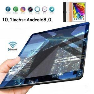 TABLET WiFi Tablet PC 2560 * 1600 IPS Tela 10.1 \ Polegadas Ten Core + 6 / 128GB Android 8.1 Dual SIM Câmera Traseira Dupla 13.0MP IPS 2019 novo FRETE GRATIS