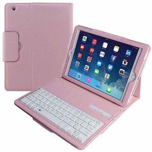 TABLET Capa de teclado para iPad Pro 12.9 / 11 / 10.5 / 9.7, Capa com capa dobrável de couro para iPad Air 3/2/1 com teclado removível Bluetooth para iPad Mini 5/4/3/2/1, iPad 4/3/2, iPad 9.7 Comprimido FRETE GRATIS