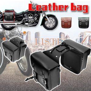 ALFOJE 2 PC Motocicleta Sacos de Sela Laterais de Couro Moto Lado Moto Bag tamanho 29 * 13 * 30 cm Sacos de sela de motocicleta Bolsa de Ferramentas Bolsa de Bicicleta Armazenamento lateral RETE GRATIS