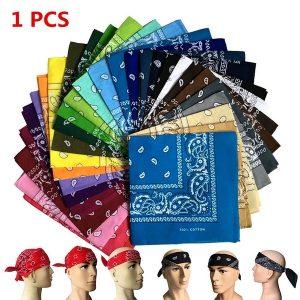 BANDANA 1 PCS Bandana Multifuncional Lenço de Algodão Impresso na Cabeça FRETE GRATIS