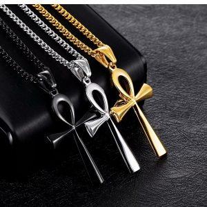 COLAR Colar de pingente de cruz religiosa de aço inoxidável masculino siilver preto ouro FRETE GRATIS