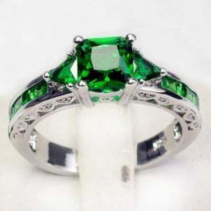 ANEL Emerald Topaz Gemstone Jewelry Fashion 925 Sterling silver Wedding/ Party Rings Sz 6/7/8/9/10 FRETE GRATI