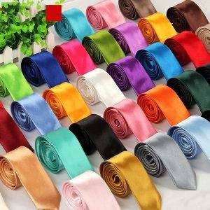 GRAVATA Nova moda dos homens à moda 5 cm magro cor sólida gravata gravata 40 cores você escolhe cores gravata corbata FRETE GRATIS