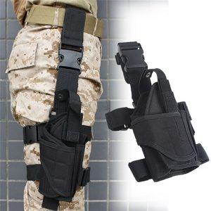 COLDRI Exército tático ajustável preto pistola arma perna perna coxa coldre bolsa titular FRETE GRATIS