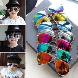 OCULOS Moda meninos meninas crianças óculos de sol espelho lente reflexiva óculos de sol frescos óculos FRETE GRATIS