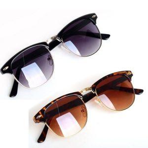 OCULOS Hot Moda Óculos Retro Vintage Unisex Óculos De Sol Das Mulheres Designer de Marca Homens Óculos de Sol 2 Cores Oculos De Sol Feminino FRETE GRATIS